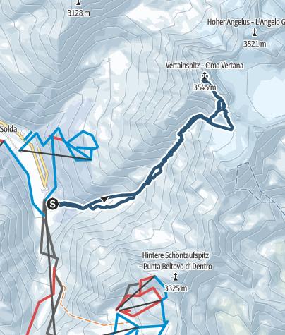 地图 / Skitour: Von Sulden auf die Vertainspitze (3.545 m)