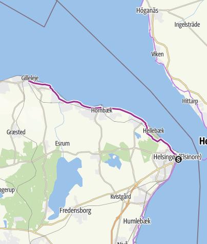 מפה / Helsingør to Gilleleje