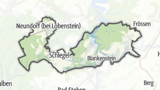 Mapa / Rosenthal am Rennsteig