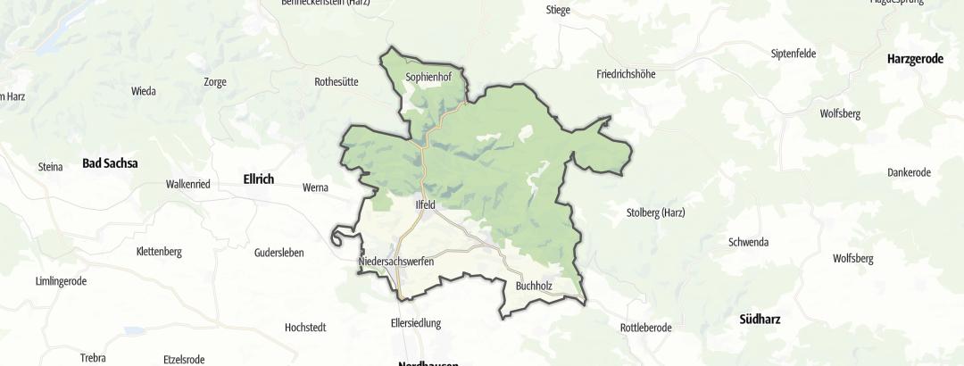 Kart / Utsiktspunkt i Harztor