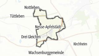 Cartina / Nesse-Apfelstädt