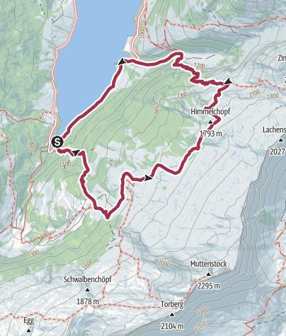 Karte /  Wanderwunder Schwyz: Wägital Zindlen