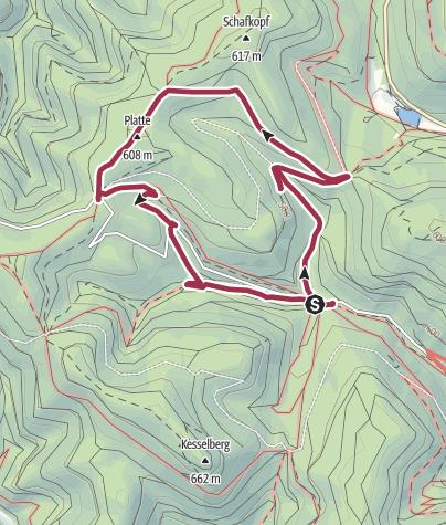 Karte / Kirrweiler - Rundwanderung im Kirrweilerer Vorderwald