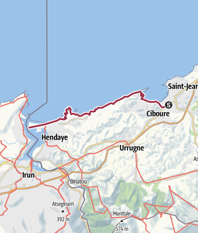Map / The coastal trail from Saint-Jean-de-Luz to Hendaye