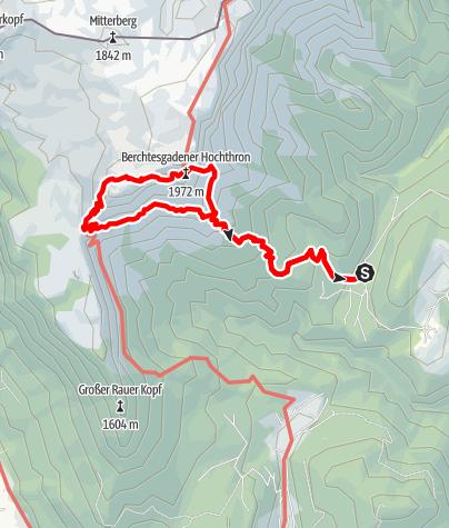 Karte / Hochthron Klettersteig, Untersberg