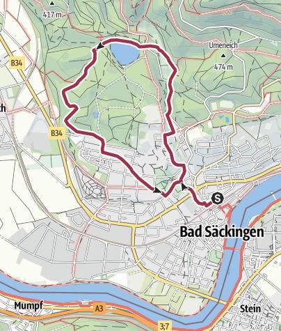 Map / Bad Säckingen: Zum Bergsee