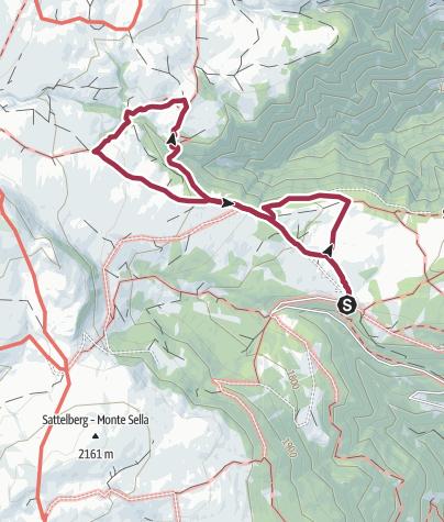 Map / The Latschenkieferweg trail on the Villanderer Alm