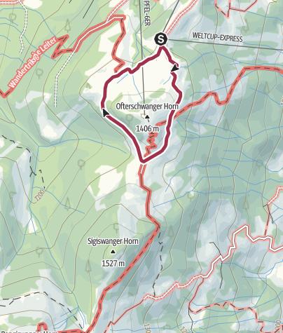 Karte / Spazier-Rundweg um das Ofterschwanger Horn