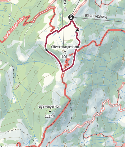 Map / Ofterschwanger Horn - a comfortable walk round the peak