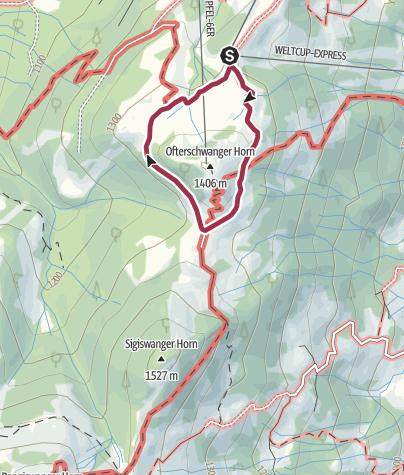 Map / Ofterschwanger Horn - a comfortable walk round the peak