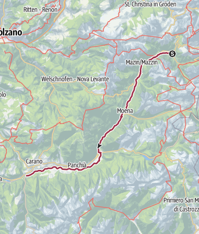 Map / FIEMME AND FASSA DOLOMITES CYCLE PEDESTRIAN PATH