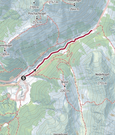 Karte / Larstigalm - Umhausen-Niederthai