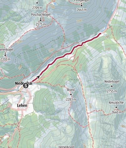 Map / Larstigalm - Umhausen-Niederthai