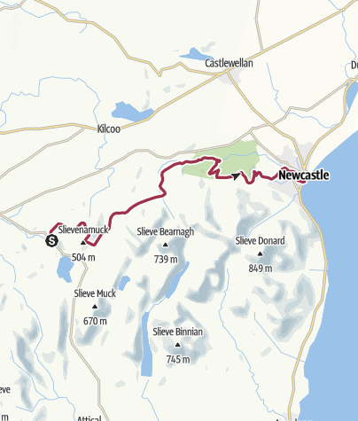Map / Mourne Mountains to Newcastle