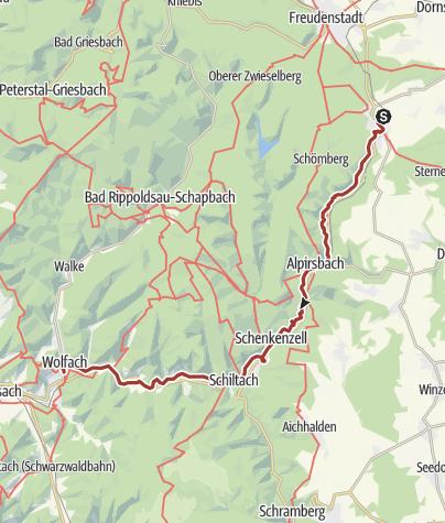 Karte / Flößerpfad Kinzigtal