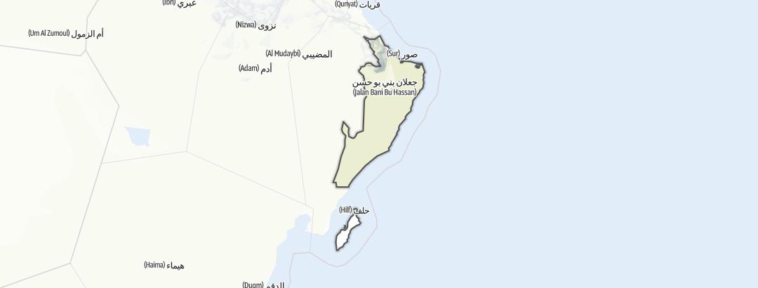 Kartta / Al Sharqiyah south
