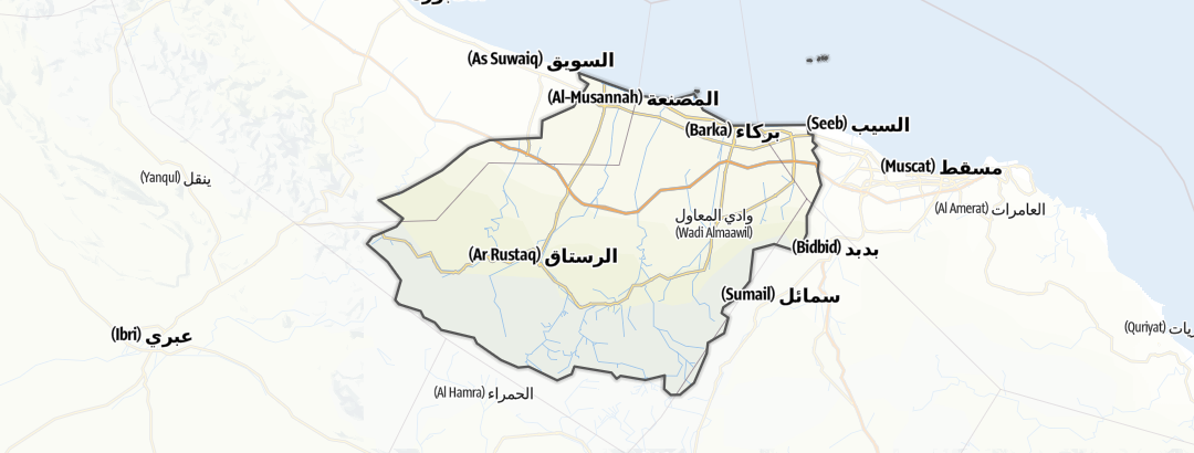Kartta / Al Batinah south
