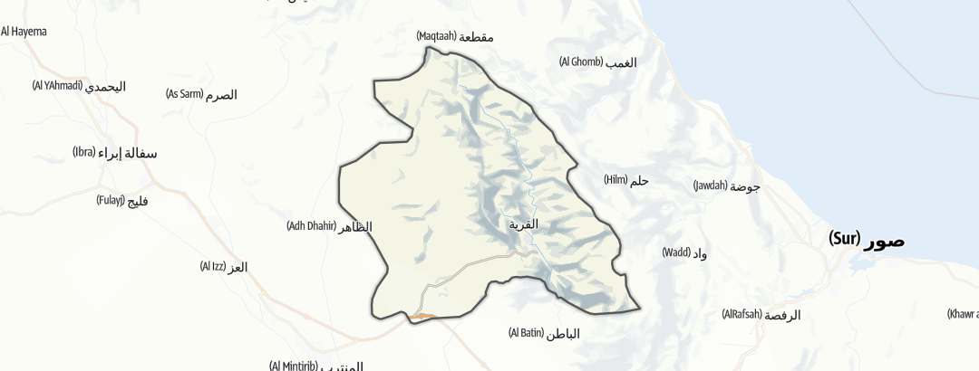 Karte / Wadi Bani Khalid