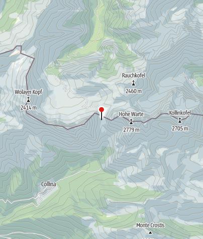 Map / Rifugio Lambertenghi-Romanin