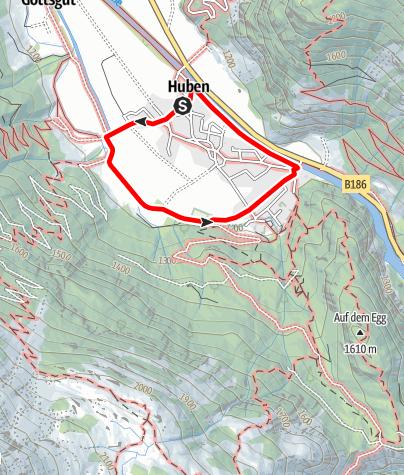 Karte / Ortsrunde Huben  - Längenfeld