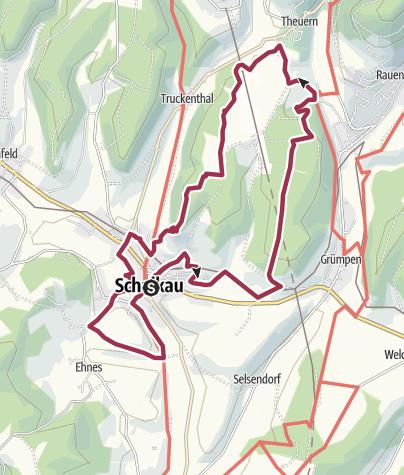 """Karte / Rundwanderung- """"Rund um den Galgenberg""""-  Schalkau- Thüringen"""