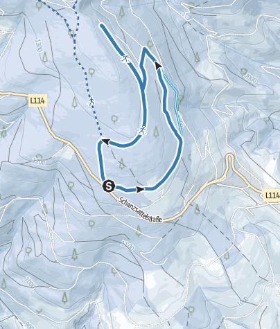 Karte / Teufelstein-Wanderloipe