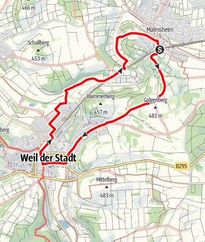 Karte / Über den Herrschaftsweg zur ehemaligen freien Reichsstadt