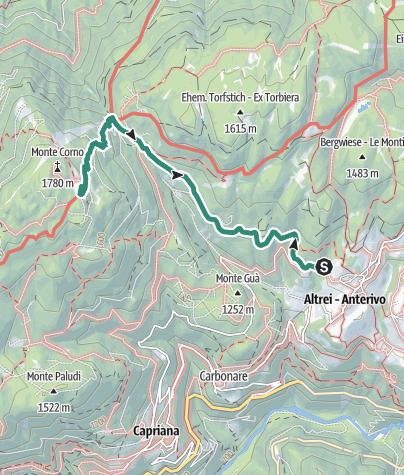 Cartina / Malga Monte Corno