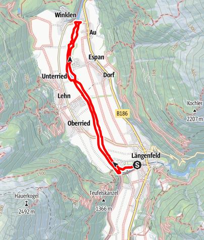 Map / Auenweg - Längenfeld