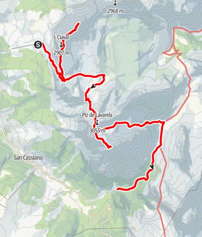 Map / 4 Peaks Alta Badia