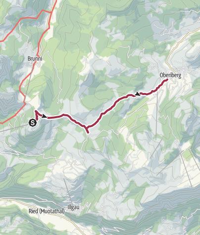 Karte / Wanderung durch die Moorwälder in der Ibergeregg