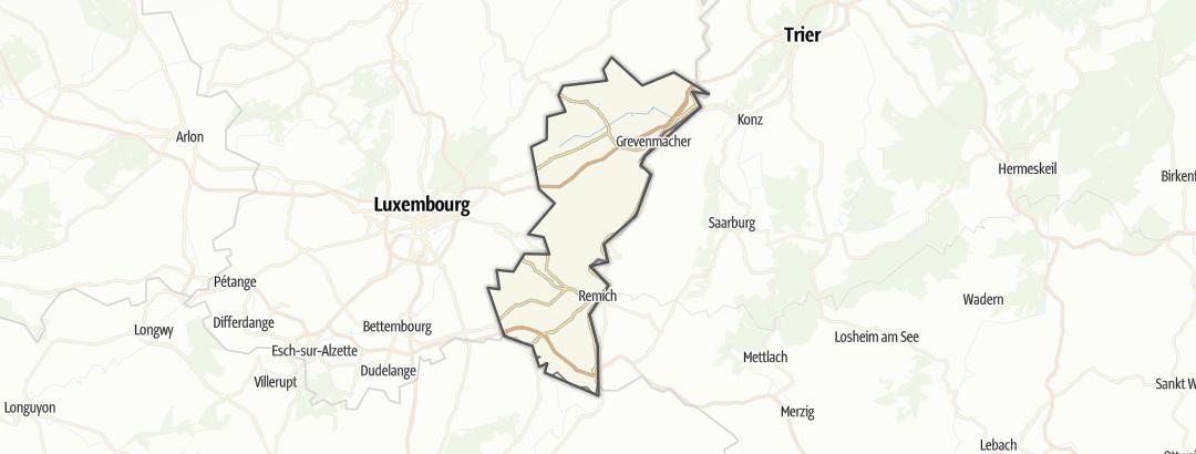 מפה / טיולי אופני הרים ברחבי Mosel