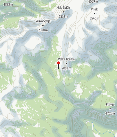 Karte / Ledvicah jezero - am Weg nach unten zur Koča pri Triglavskih jezerih