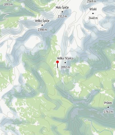 Karte / Koča pri Triglavskih jezerih, umgeben von Seen
