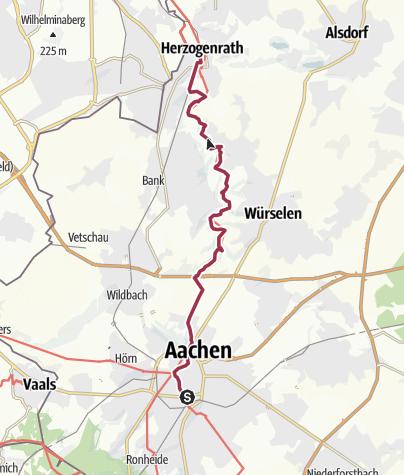Karte / Wandern im Wurmtal - von Herzogenrath nach Aachen