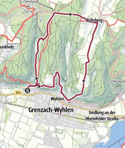 Karte / Wyhlen - Ruschbachtal