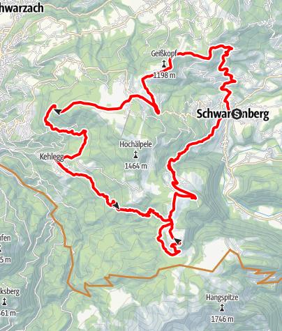 Map / Schwarzenberg | Bödele - Kehlegg - Weißenfluhalpe