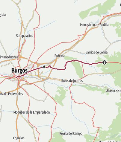 Karte / Von San Juan de Ortega nach Burgos