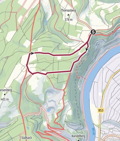 Karte / Ferienland-Wanderweg Panorama-Wanderweg Piesport