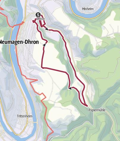 Karte / Dhrontalweg an der Mosel in Neumagen-Dhron