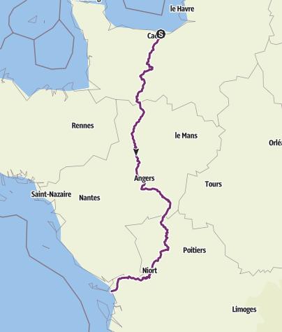 Carte / La Vélo Francette, de la Normandie à l'atlantique