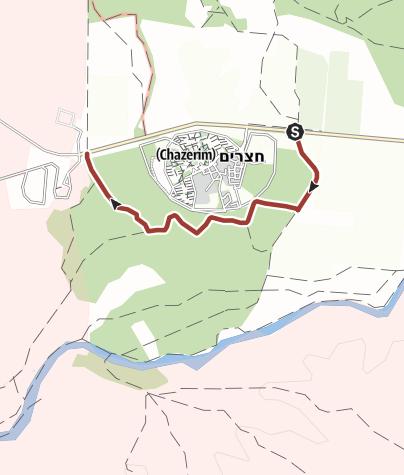 מפה / דרך הפסלים (יער חצרים)