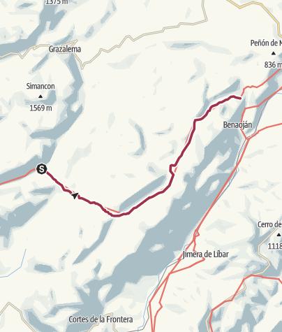 Karte / Wanderung nach Montejaque
