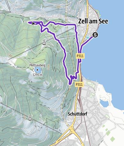 Karte / WOMEN`S TRAIL Zel am See - Kaprun - NightTrail