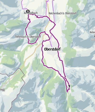 Karte / Rundtour von Obermaiselstein zum Christlesee