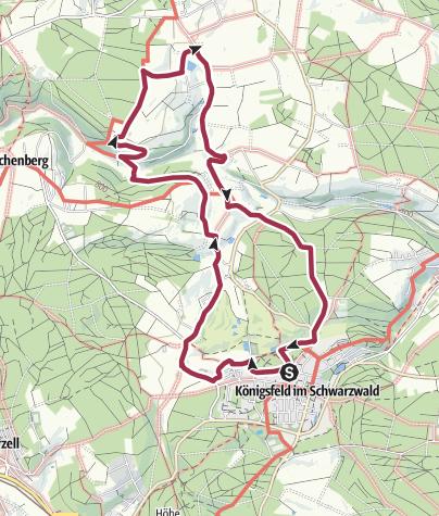 Karte / B8 Höfe- und Mühlenweg Königsfeld