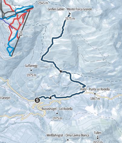 Karte / Skitour Gabler