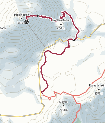 Map / Mount Teide Loop Walk from The Parador
