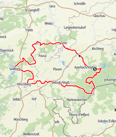 Karte / Motorradtour ab Hotel Forstmeister