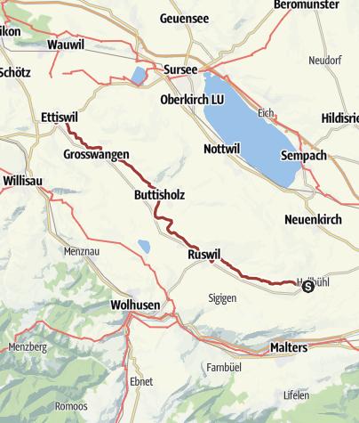 Map / Luzerner Kapellenweg